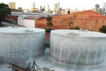 Commercial aboveground concrete tanks for Chemical storage