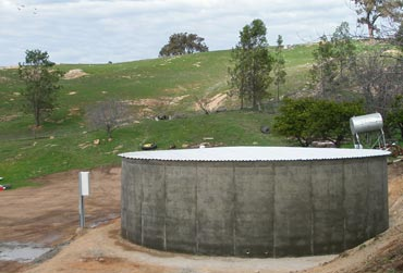 Above ground concrete water tanks